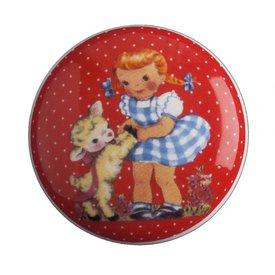 Living Colour Kastknopje meisje met lam