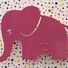 Roommate wandlamp olifant roze