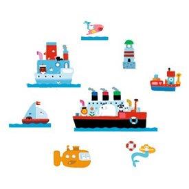 Nouvelles Images Nouvelles Images muurstickers boten