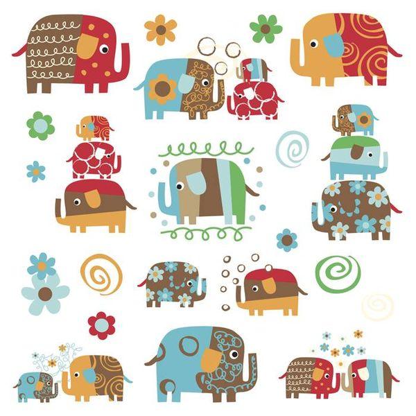 Roommates Roommates muursticker olifanten by Zutano