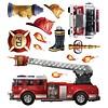 Roommates muurstickers brandweerauto