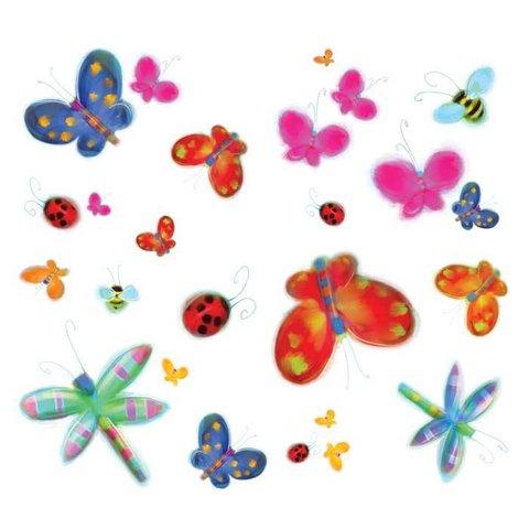 Roommates muursticker vlinders en libelles