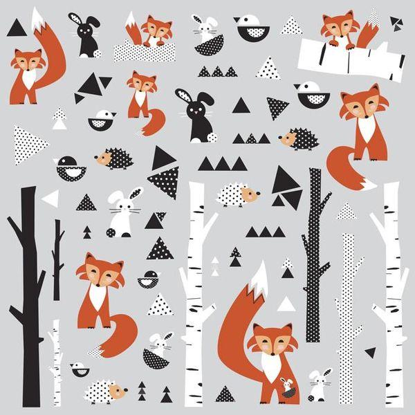 Roommates Roommates muursticker vos fox forest