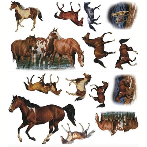 Paarden Sticker Muur.Roommates Muursticker Paarden Wild Horses Kidzsupplies