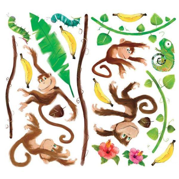 Roommates Roommates muursticker apen monkey business
