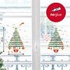 Nouvelles Images kerst raamsticker kerstbomen