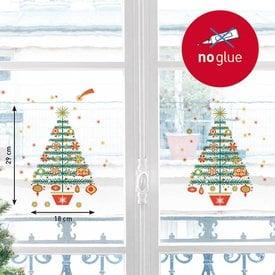 Nouvelles Images Nouvelles Images kerst raamsticker kerstbomen