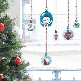 Nouvelles Images Nouvelles Images raamsticker kerstballen