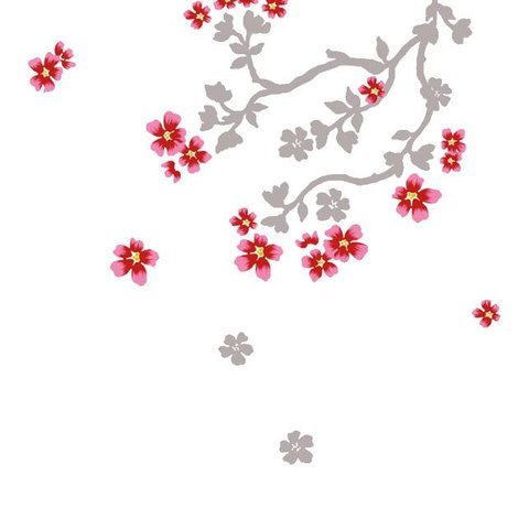 Nouvelles Images muursticker bloesem cherry blossom