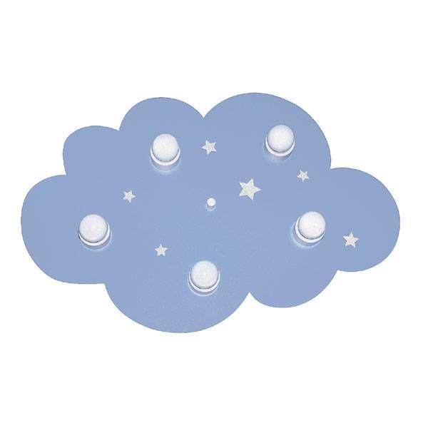 Waldi-Leuchten Kinderlamp plafonniere wolk blauw