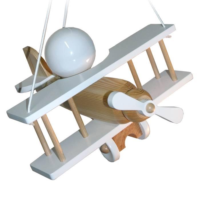 Uitzonderlijk Hanglamp kinderkamer vliegtuig wit | Kidzsupplies ZB29