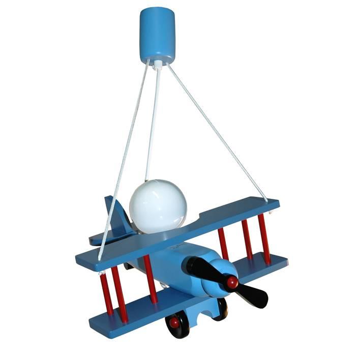 Fabulous Jongenslamp vliegtuig blauw | Kidzsupplies TS03