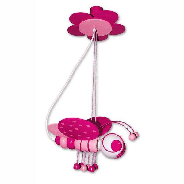 Kinderlamp bijtje roze/pink
