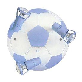 Waldi-Leuchten Kinderlamp plafond voetbal lichtblauw