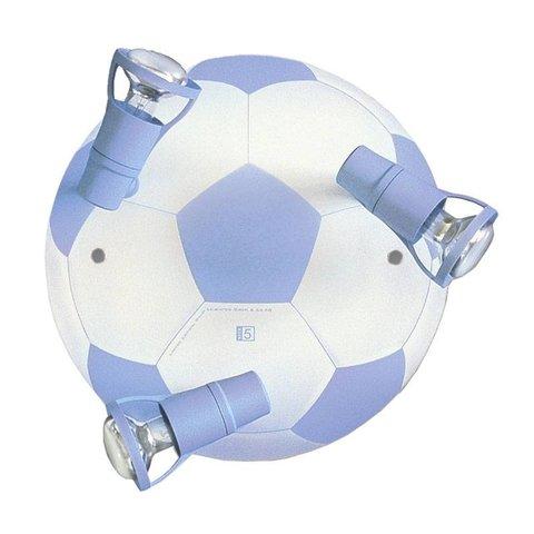 Kinderlamp plafond voetbal lichtblauw