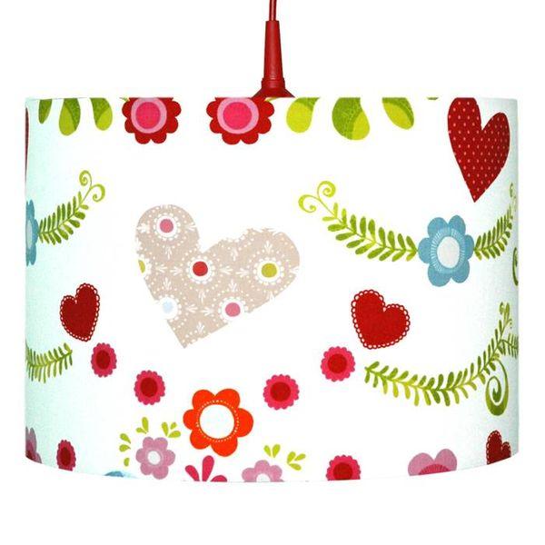 Waldi-Leuchten Kinderlamp bloemen en hartjes Bloom