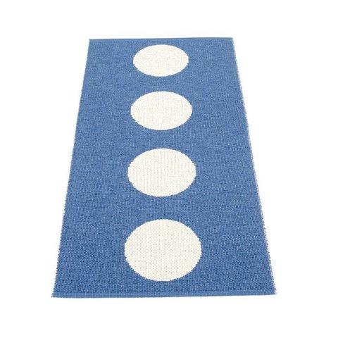 Pappelina plastic vloerkleed Vera blauw vanilla