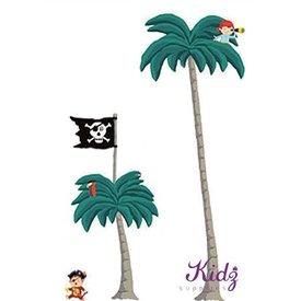 Nouvelles Images Nouvelles Images muurstickers palm en piraten XXL