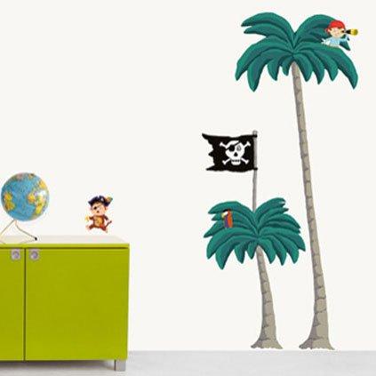Muurstickers Kinderkamer Piraat.Nouvelles Images Nouvelles Images Muurstickers Palm En Piraten Xxl
