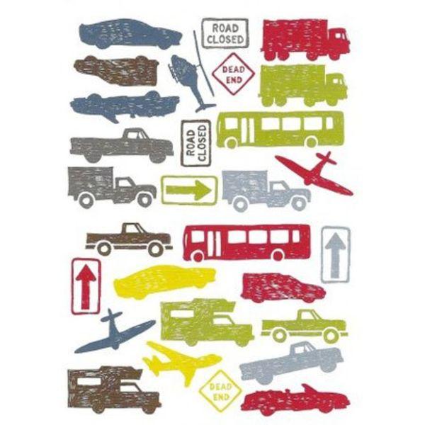 Kidslab Kidslab muursticker autos city traffic