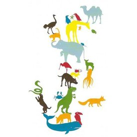 Kidslab Kidslab muursticker dieren animal tower