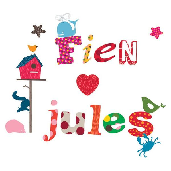 Kidslab Kidslab muursticker alfabet