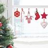 Nouvelles Images raamsticker kerst hangertjes