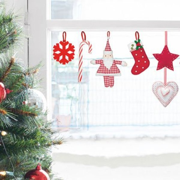 Nouvelles Images Nouvelles Images raamsticker kerst hangertjes