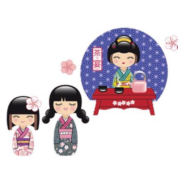 Nouvelles Images Nouvelles Images muursticker geisha tea time