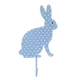 Sass & Belle RJB Stone kapstokje konijn stippen lichtblauw