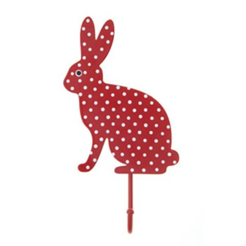 RJB Stone kapstokje konijn stippen rood