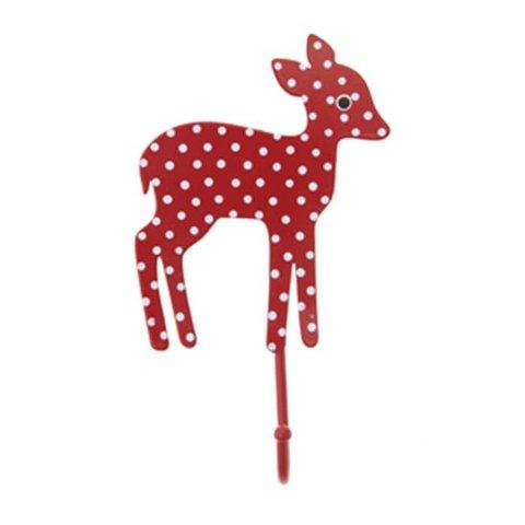 RJB Stone kapstokje bambi stippen rood