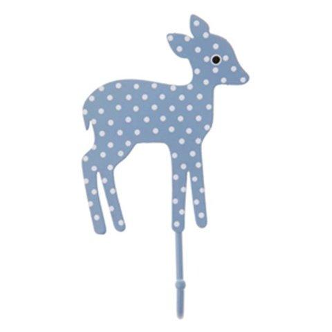 RJB Stone kinderkapstokje bambi stippen lichtblauw