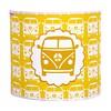 Taftan wandlamp auto busje geel