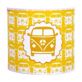 Taftan Taftan wandlamp auto busje geel