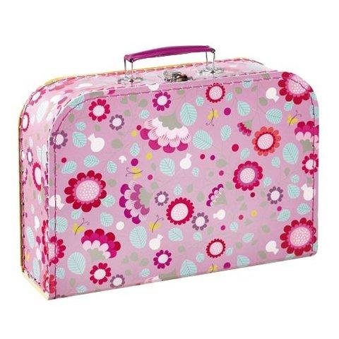 Mini labo koffertje bloemen roze