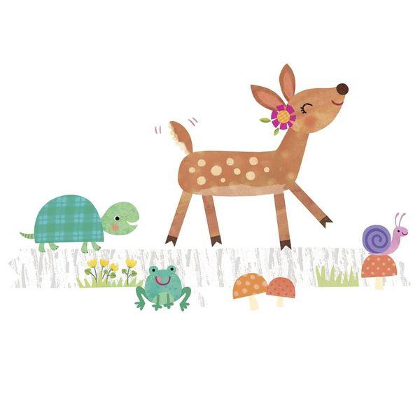 Roommates Roommates muursticker babykamer bambi and friends