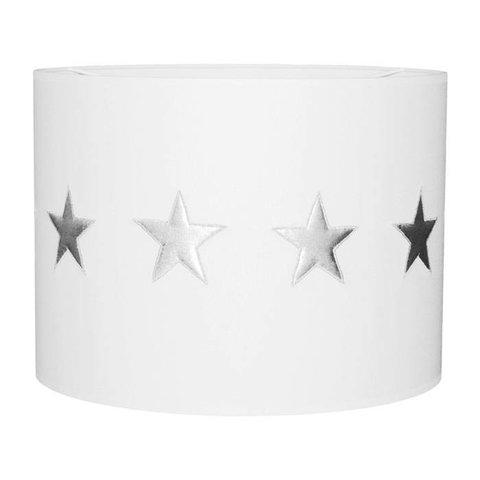 Taftan kinderlamp sterren wit