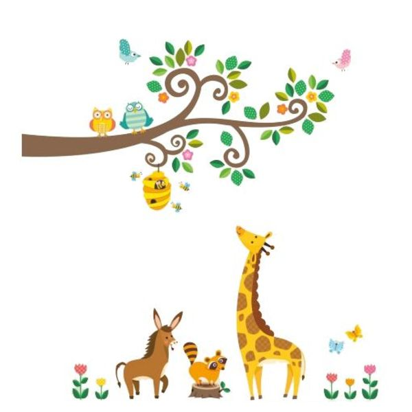 Decowall Decowall muursticker kinderkamer tak scroll branch
