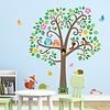 Decowall muursticker  met dieren scrolll tree