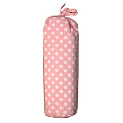 Taftan hoeslaken polkadots roze 70x150