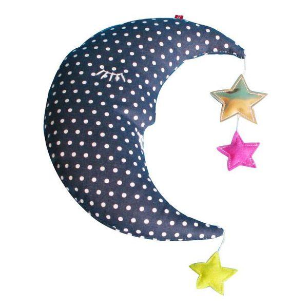 Pakhuis Oost Pakhuis Oost knuffel maan met sterretjes donkerblauw