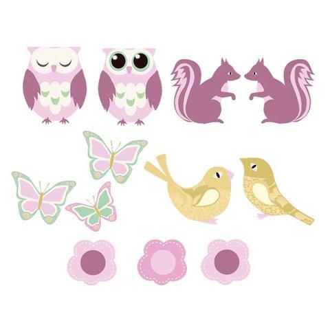 Perron 11 behangdieren bos roze