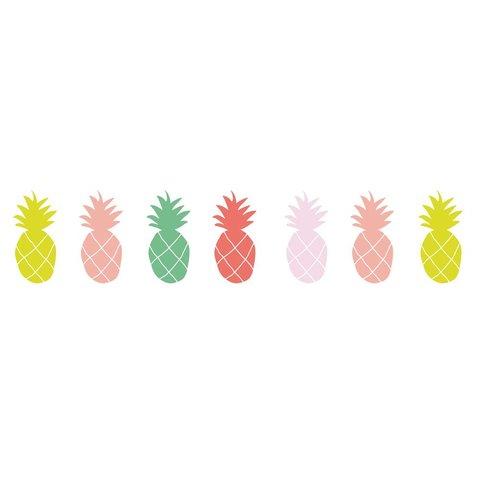 Mimilou muursticker ananas mulitkeur