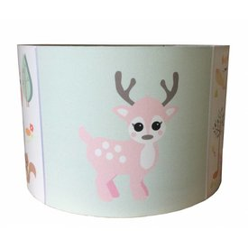 Designed4Kids Designed4Kids kinderlamp forest friends hertje pastel