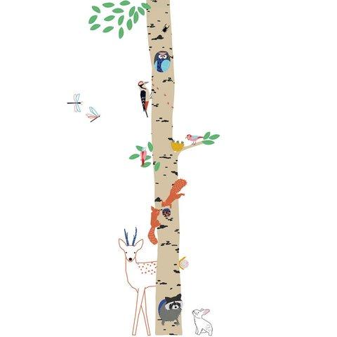 Mimilou muursticker boom into the wood