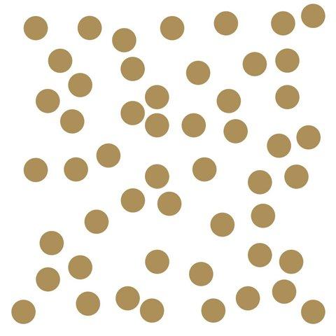Roommates muursticker confetti goud