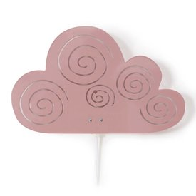Roommate Roommate wandlamp wolk roze
