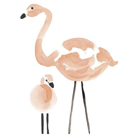 Lilipinso muursticker flamingo XL