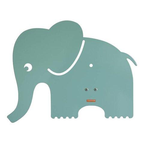 Roommate wandlamp olifant pastel blauw groen